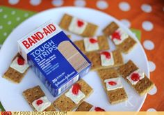 treats for when we teach first aid...looks really nasty and tasty all at the same time.