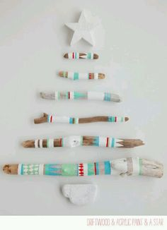 Painted Driftwood Christmas tree