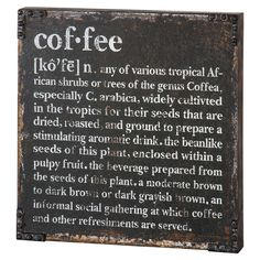 Coffee Defined Wall Dcor