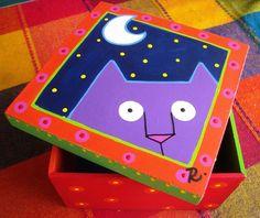 Caja Gatito de Noche by rebeca maltos, via Flickr