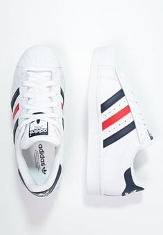 adidas Originals SUPERSTAR FOUNDATION - Trainers - white/collegiate navy/red - Zalando.co.uk