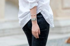 A NEW BEGINNING - skinny jeans con strappi
