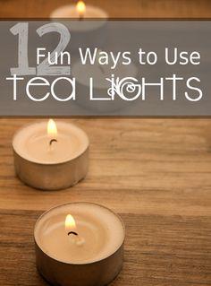 12 Fun Ways to Use Tea Lights