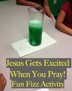 Great lesson on prayer! Tie in with the fizzy paint craft for preschoolers. (glue, baking soda and vinegar)