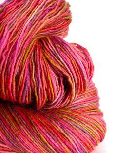 cotillion - hand dyed yarn, superwash merino wool sock yarn, single-ply, kettle dyed red pink yarn on Etsy, $18.00