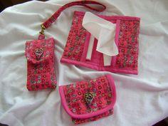 Mobil-, zsebkendő- és pendrive tartó, pink
