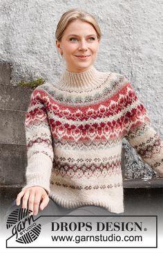 Drops Design, Knitting Patterns Free, Free Knitting, Crochet Patterns, Icelandic Sweaters, Nordic Sweater, Hand Knitted Sweaters, Fair Isle Knitting, Jumpers For Women
