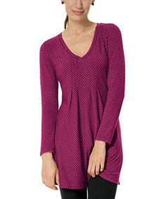 This Sangria Tonal-Pinstripe Tunic by Blue Canoe is perfect, $45 !!  #zulilyfinds
