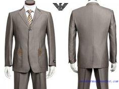 Costume à un Bouton Armani Homme Pas Cher Prix Grise Armani Suits, Suit Jacket, Breast, Costumes, Blazer, Jackets, Fashion, Button, Down Jackets