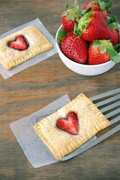 oh my god i need to make these asap Strawberry nutella poptarts