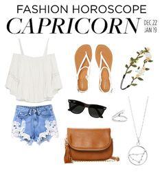 """#capricorn"" by marmai14 on Polyvore featuring moda, Aéropostale, Zara, Forever 21, Ray-Ban, Moda Luxe, fashionhoroscope y stylehoroscope"