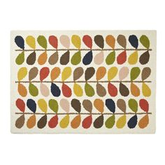 Add the perfect finishing touch to your living space with this beautiful Multi Stem rug by Orla Kiely. Wonderfully soft, it has been crafted from 100% New Zealand wool and hand knotted. It features...