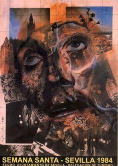 Cartel de 1984 - Autor Semana Santa: Rolando Campos Dimensiones: 62 x 91cm Litografía: Gráficas del Sur (Sevilla)
