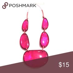 SALE  Pink Resin Shell Necklace Macy's Hot Pink Reslin Necklace Macy's Jewelry Necklaces