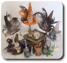 Ooooo! To go in my Witchy Steampunk Dollhouse!   Google Image Result for http://www.cdhm.org/imag/images/2011-04/2011-04-cdhm-magazine-spooky-debbie-wright-hats-made-by-kat-hazelton.png