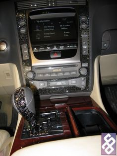 Swarovski crystals ~ car interior console ~  I would adore this in my car!