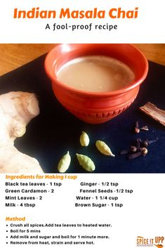 Indian Masala Chai or popularly known as Chai Tea is an energising,  refreshing milky tea made with spices and fresh ginger. This recipe shows you how to make an authentic masala chai at home with ease with many cooking tips and ideas. #indiantea #chailatte #spices #winter #winterfoods #benefitsofspices#cookingwithspices #spiceitupp #chailatterecipe