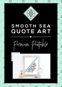 Smooth Sea Skilled Sailor Modern Coastal Art by littlegoldpixel