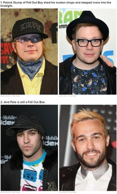Patrick Stump sheds his mutton chops ans steps into the limelight...and pete is still fall out bae