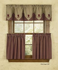 Sturbridge Heart Embroidered Country Kitchen Curtains Jpg 943