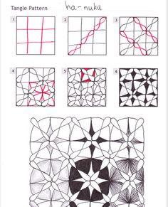 How to draw HA-NUKA « TanglePatterns.com