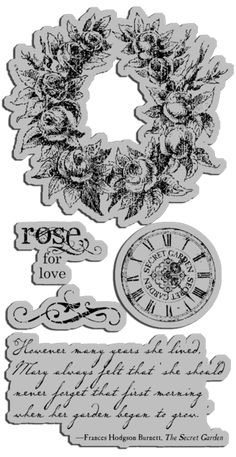 Graphic45 Secret Garden collection SG-cling-stamps_02