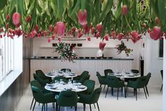restaurant design | tulips | seating | Mim Design - Melbourne Interior Design