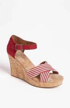 TOMS 'University Stripe' Sandal available at #Nordstrom