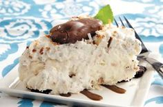 Mounds of joy whipped pie