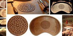 Celtic knot-work serving tray