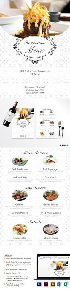 35 Best Restaurant Templates Images Restaurant