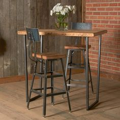 table bar haute hiba la redoute interieurs mesa barra pinterest belle industrial and style. Black Bedroom Furniture Sets. Home Design Ideas
