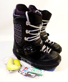 RARE-Worn-Once-Mens-Size-10-5-BURTON-Haven-SI-Step-In-Snowboard-Boots-Black