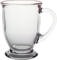 Café Mug  | Crate and Barrel. For some reason drinking coffee out of glass mugs elevates the experience for me. And these are large enough to hold a decent amount of joe...bonus!!