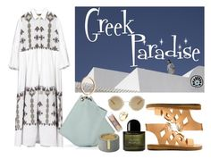 """Greek Paradise"" by smithsinspiration ❤ liked on Polyvore featuring Dolce&Gabbana, Byredo, Skin & Tonic, Summer, ootd, thegreekdesigners and cycladicframes"