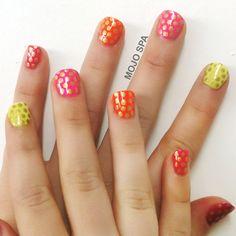 Neon nailart nails at mojo spa MojoSpa.com | Mojo Spa ™ | Blog