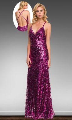 # Magenta Sequin Prom Dress #sequinpromdress