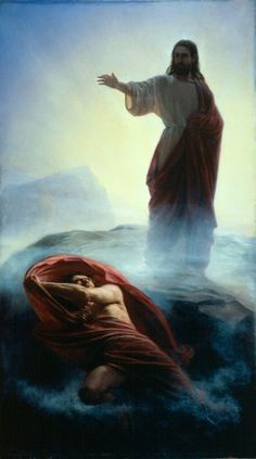 """Jesus Christ is our Lord and Savior He has already defeated Satan. Just call upon His Holy nam """"Jesus"""", and He will save you from all harm! Amen Casting Out SatanCarl Bloch Jesus Reyes, Jesus E Maria, Jesus Christus, Ange Demon, Worship The Lord, Biblical Art, Jesus Pictures, Jesus Pics, Bible Pictures"""