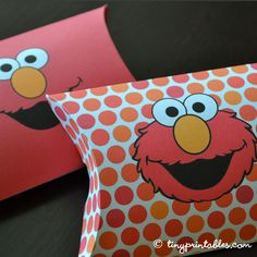Elmo Birthday Party Printables - Favor Boxes by TinyPrintables, via Flickr