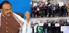 Altaf hussain mqm uk protest  in 10-downing street abbas town