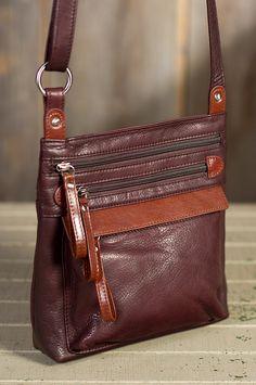 Tessa Leather Crossbody Handbag | Overland Sheepskin