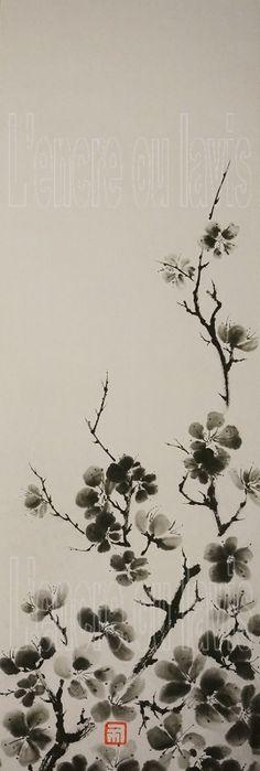 Prunus grosses fleurs 33x95