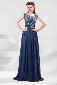 2015 Terrific Scoop A Line Prom Dress With Beads And Ruffles Chiffon $242.99 #princess #girl #prom dress #2015 #dress #and #scoop #beads #with #chiffon #line #sexy #ruffles #prom #terrific