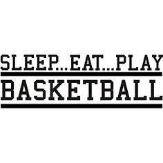 'Sleep Eat Play Basketball' Vinyl Wall Art Quote