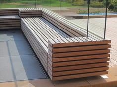 Innovative European Products for Unique Environments Urban Furniture, Street Furniture, Outdoor Furniture, Outdoor Decor, Bungalow Conversion, Wall Cladding, Cladding Ideas, Concrete Bench, Entry Bench