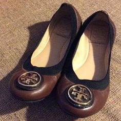 Tory Burch Caroline Ballet Flats Worn less than 3 times. A little too small for me. Excellent condition. Tory shoe box included! Tory Burch Shoes Flats & Loafers