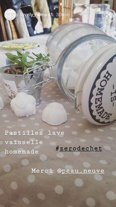 Pastilles LAVE VAISSELLE DIY - Recette sur le blog PEAU-NEUVE.FR #gogreen