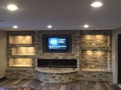 All Details You Need to Know About Home Decoration - Modern Living Room Built Ins, Living Room Tv, Living Room Remodel, Living Room Modern, Living Room Designs, Living Room Decor Fireplace, Basement Fireplace, Home Fireplace, Fireplace Design