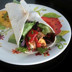 Spicy Balsamic Tofu Wrap