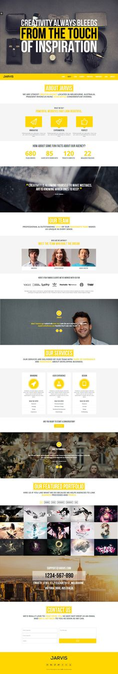 Jarvis - One Page Parallax WordPress Theme by RockNRollaDesigns